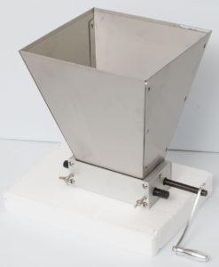"Dual Roller 10"" Barley Grinder Hopper Grain Mill Malt Crusher for Home Brewing"
