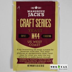 Mangrove Jack's M44 WEST COAST ALE $4.44 Ea@10 Pack Dry Beer Brewing Yeast 10 Gr