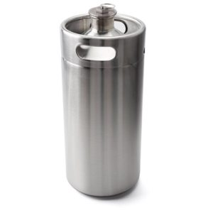 128 Ounce 1 Gallon Mini Keg Style Stainless Steel Growler