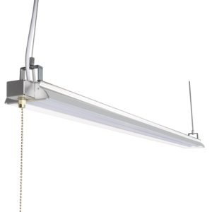 Hykolity 4ft 40w led shop garage hanging light fixture 4200 lumens 5000k daylight white 64w fluorescent equivalent