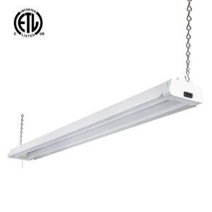 Hykolity 4ft 42 Watt LED Shop Light Garage Workbench Ceiling Lamp 5000K Daylight White 3700 Lumens Linkable Lamp Fixture 64w Fluorescent Equivalent