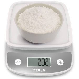 Digital Kitchen Scale by Zerla — Versatile Food Scale — Weigh Snacks, Liquids, & Foods — Accurate Weight Scale within .05 oz.