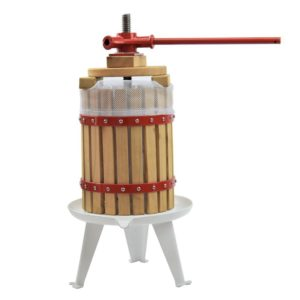 EJWOX 1.6 Gallon / 3.2 Gallon / 4.75 Gallon Solid Wood Basket Fruit and Wine Manual Press