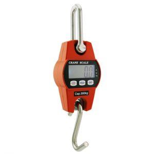 Outmate Mini Digital Crane Scale 300kg/600lbs with LED(Aluminium Alloy Case)
