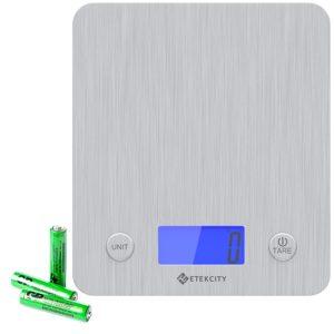 Etekcity Digital Kitchen Scale Multifunction Food Scale, 11 lb 5 kg, Silver