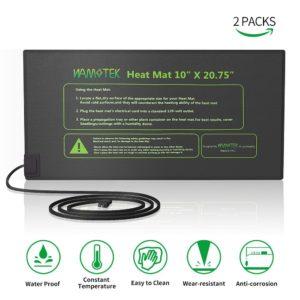 "Plant Heat Mat, NAMO-TEK Durable Waterproof Seed Germination Heating Mat, Warm Hydroponic Heating Pad 10"" x 20.75"" 2 Pack MET Standard"
