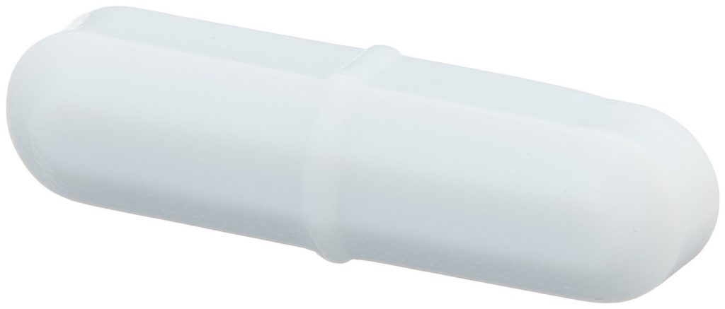 Bel-Art Spinbar Teflon Octagon Magnetic Stirring Bar; 25.4 x 9.5mm, White (F37110-0138)