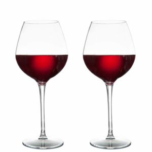 MICHLEY Unbreakable Red Wine Glasses 17 oz, Tritan Plastic Reusable Stemware for Indoor and Outdoor Use, Set of 2