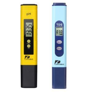Pancellent Water Quality Test Meter TDS PH 2 in 1 Set 0-9990 PPM Measurement Range 1 PPM Resolution 2% Readout Accuracy (Yellow)