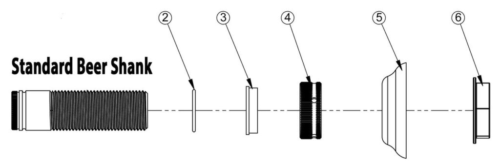 Beer Shank Diagram And Parts List Via Keg Connection
