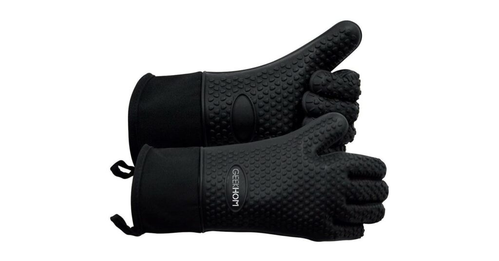 GEEKHOM Heat Resistant Silicone Gloves