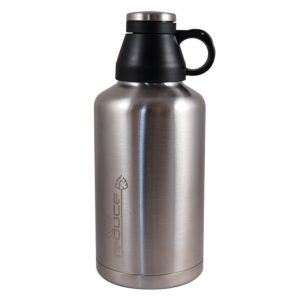 Reduce Vacuum Beer Growler, 64-Ounce, Stainless Steel