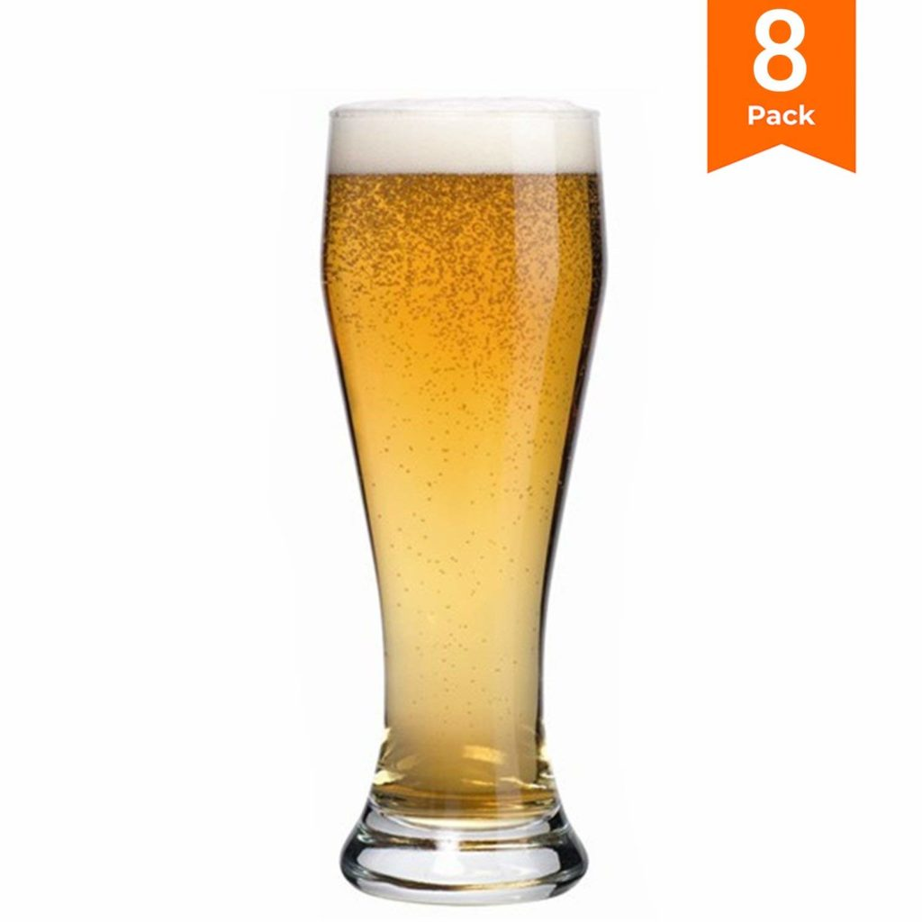KooK FNG Pilsner Highball Beer Glasses 15 Ounces - 8 Pack