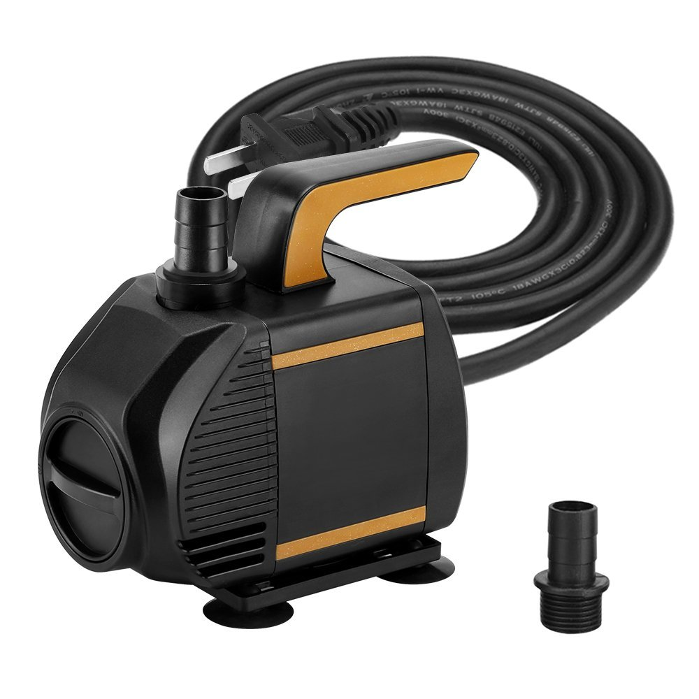 KEDSUM 580GPH Submersible Pump, 35W Ultra Quiet Water Pump with 6ft High Lift, Fountain Pump with 5 ft Power Cord, 2 Nozzles for Fish Tank , Pond , Aquarium, Statuary, Hydroponics