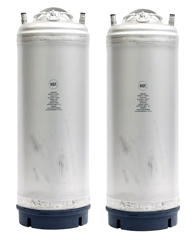 5 Gallon Ball Lock Homebrew Beer Kegs New - Blemished - 2 Pack - Free Shipping!