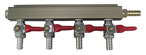 LD Carlson 5669 4 Way Gas Manifold with 5/16 Barb