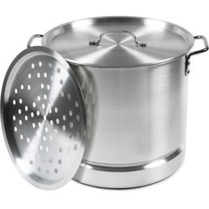 IMUSA 32-Quart Aluminum Tamale and Seafood Steamer by Imusa