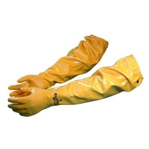 "Atlas 772 Large Nitrile Chemical Resistant Gloves, 25"", Yellow, 1-Pair"