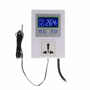 KKmoon AC110-240V 10A LCD Digital Intelligent Pre-wired Temperature Controller Outlet with Sensor Thermostat Heating Cooling Control Switch