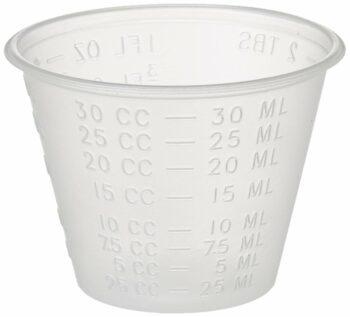 Dynarex 4258 Medicine Cup (Polyethylene), 100 Count, 1 Sleeve, Clear