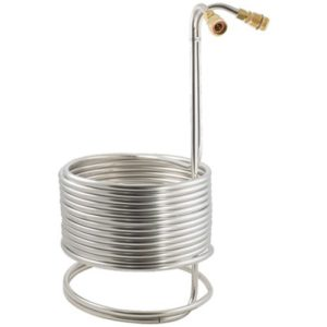 Stainless Steel Wort Chiller with Brass Fittings - 50 ft x 1/2 in WC112