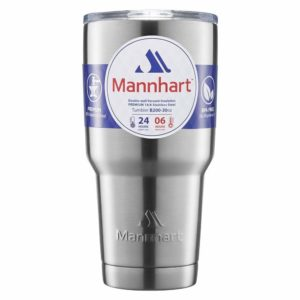 [Mannhart Quality] Double Wall Vacuum Insulated 30oz Tumbler, Cold 24H & Hot 6H, BPA-Free, Premium Stainless Steel, Splash-Proof Sliding Lid, Coffee Travel Mug,Insulated Coffee Mug,Tumblers,Travel Mug