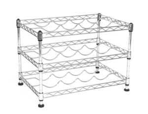 Seville Classics 12-Bottle Stackable Wine Rack, 11.5-inch by 17.5-inch by 12-inch