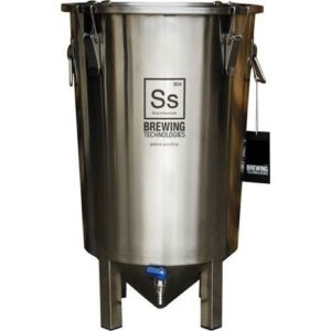 SS Brewing TechnologIes Brew Bucket 7 Gal Stainless Steel Conical Fermenter Beer
