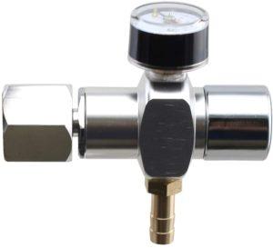 Micro CO2 Mini Regulator Keg Charger for Standard Homebrew CGA320 Tanks (0-45 PSI)