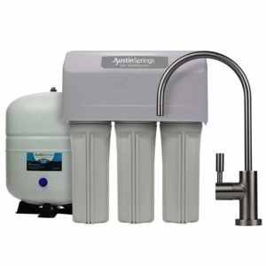 Austin Springs 5-Stage Reverse Osmosis Drinking Water Filter System with Brushed Nickel Faucet, 75 GPD