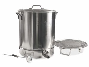 Bayou Classic 16-gal Stainless Stockpot w/spigot, false bottom and thermometer