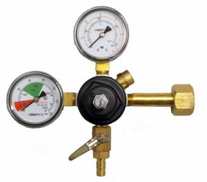 Taprite Co2 Primary Beer Regulator 3741-BR New Draft Wine Soda - Dual High Pressure Gauge
