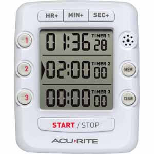 Acurite Triple Event Digital Kitchen Timer with Jumbo Display