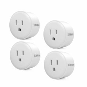 LUMIMAN Smart Plug Home Electrical Outlet WiFi Socket Wireless Remote Control Your Devices from Anywhere, Compatible with Alexa and Google Assistant, No Hub Required, 4 Pack