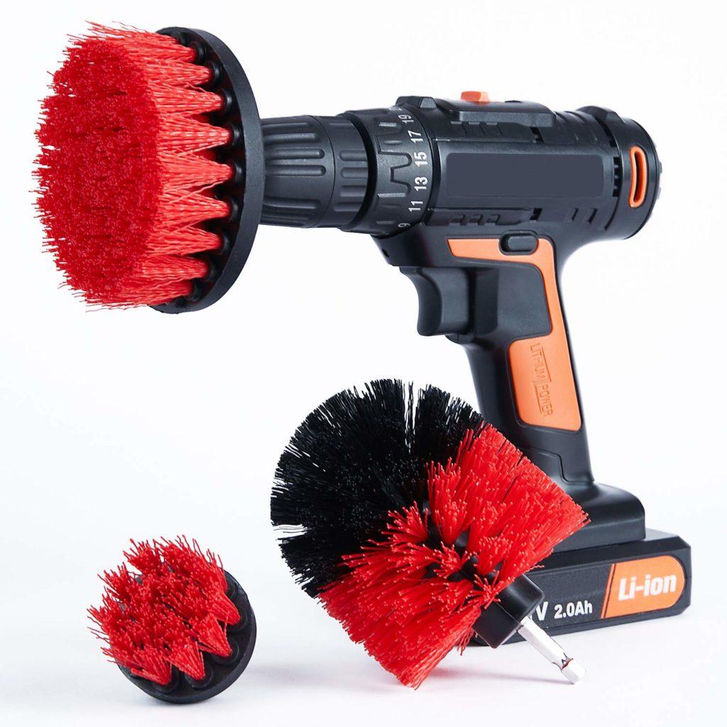 Cooptop Stiff Bristles Drill Brush Set of 3 - Power Scrubbing Drill Brush Attachment - Power Scrub Brush Cleaning Kit