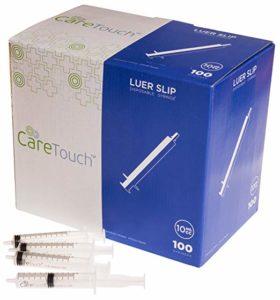 10ml Syringe Only with Luer Slip Tip (100 Syringes)