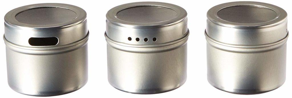 Kamenstein Magnetic Multi-Purpose Spice Storage Tins, Set of 3