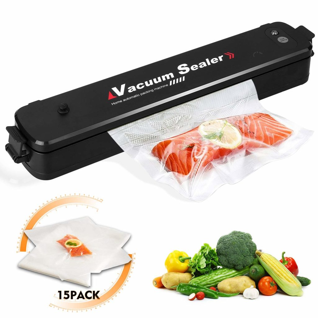 Auwell Vacuum Sealer Food Vacuum Packing Machine With 15 pcs Sealer Bags for Food saver