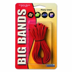 Alliance Rubber Big Rubber Bands 12 Pack 7-Inch X 1/8-Inch Red 00700