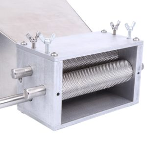 XuanYue Barley Grinder Crusher Stainless 3-Roller Grain Mill Homebrews Beer Brewing Grain Crusher Machine For Grains Corn Barley