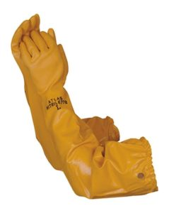 Atlas 772 Nitrile Coated Gloves 26 inch Long Cotton Lined, Chemical Resistant, Water, Pond, Work, Medium
