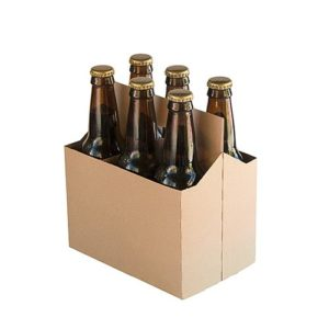 6 Pack Cardboard Beer Bottle Carrier For 12 Ounce Bottles Kraft (10 Count))