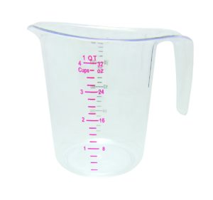 Update International (MEA-100PC) 1 Quart Plastic Measuring Cup