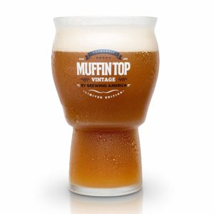 Muffin Top Nucleated Beer Glasses - Pint Glass - Cider, Soda, Tea (Muffin Top Logo Single)