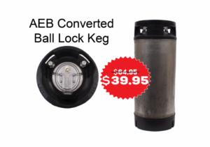 AEB Converted Ball Lock Keg, 5 Gallon