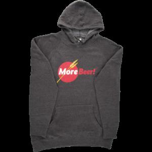 morebeer logo homebrewing sweatshirt
