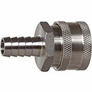 "1/2"" Female Quick Disconnect 304 Stainless Steel 1/2"" Barb"