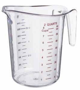2-Quart Plastic Measuring Cup