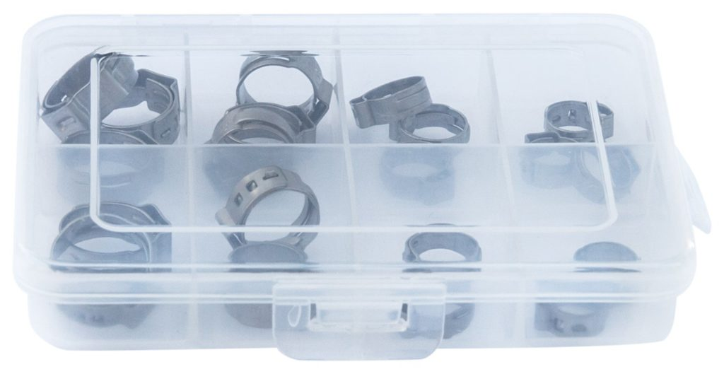 OCSParts OET095157-20PCK Oetiker StepLess Clamp Kit 20 Clamps Covering an Inner Diameter Clamp Range of 9.5 mm to 15.7 mm