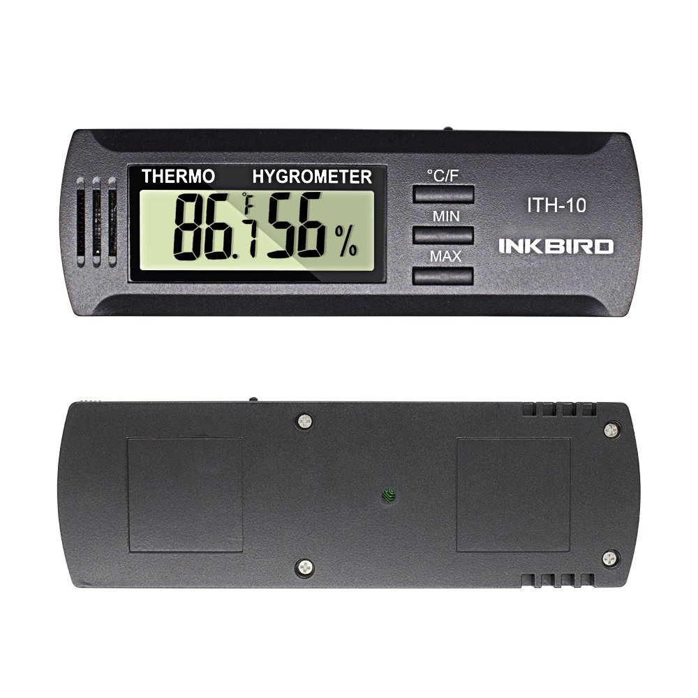 Inkbird Digital Thermometer and Hygrometer with Celsius and Fahrenheit,Suitable for Cigars/humidor/Guitar/Incubator,Portable Temperature Tester and Humidity Tester ITH-10